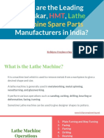 Who are the Leading Kirloskar, HMT, Lathe Machine Spare Parts Manufacturers in India?