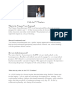 FAQs for PYP Teachers