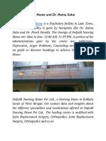 Dafodil Nursing Home and Dr. Ratna Saha