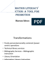 Information Literacy Tool for Promotion