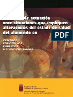 Protocolo de Actuación Ante Situaciones Que Impliquen Alteraciones Del Estado de Salud Del Alumnado en CEP