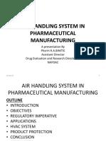 Air Handling Systm in Pharmaceutical Manufacturing Pharm r.a. Binitie