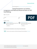 Effect of Machining Parameters on Surface Roughness and Material Removal Rate in CNC End Milling