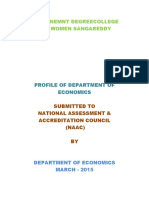 Profile of Department of Economics