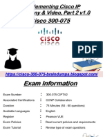 Verified 300-075 Exam Questions - Cisco 300-075 Exam Study Material Dumps4Download