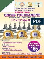 Late Bharatbai Halkude Memorial 2nd Below 1600 Chess Tournament