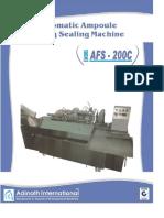 Automatic Ampoule Filling Sealing Machine