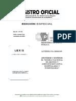 Acuerdo Ministerial No. 00000109, Modelo Nacional de Gestion y Atención Educativa Hospitalaria