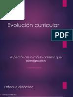 Evolución Curricular