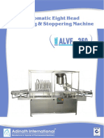 Automatic Eight Head Vial Filling & Rubber Stoppering Machine