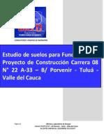 Estudio Suelos Carrera 8 Nº22A-33