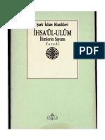 Farâbî - İhsa'ül-Ulûm (İlimlerin Sayımı).pdf