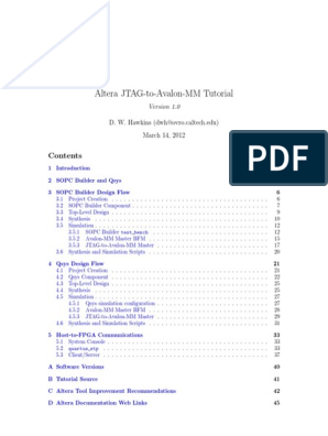 altera_jtag_to_avalon_mm_tutorial pdf | Hardware Description