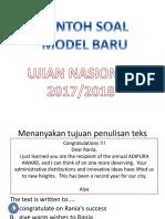 Soal latihan model baru UN 2017/2018