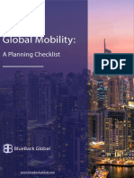 Global Mobility. a Planning Checklist