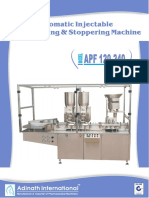 Automatic Injectable Powder Filling & Stoppering Machine