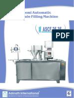 Semi-Automatic Capsule Filling Machine