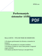 Performantele Sistemelor as RS