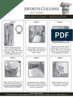 Pultruded Fiberglass Columns Install