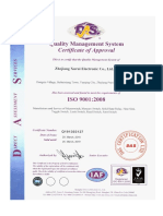 Limit Switch Iso Certificate