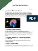 Hoja Informativa Sobre Los Ritmos Circadianos