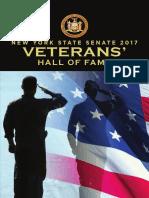 2017 NY Senate Veterans' Hall of Fame