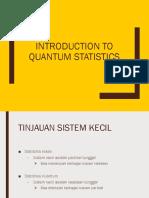 Introduction to Quantum Statistics