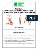 Manual Manejo Seguro de Escaleras Tipo Avion, Verticales y de Tijera