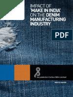 Denim's Industry - Impact of Make in India.pdf