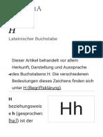 H – Wikipedia