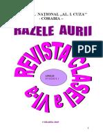 Revista Razele Aurii - Nr 1