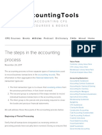 The Steps in the Accounting Process — AccountingTools
