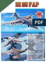 Peruvian Air Force Sukhoi Su-25 Frogfoot Aircraft Paper Model