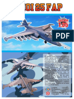 Peruvian Air Force Sukhoi Su-25 Frogfoot Aircraft Paper Model
