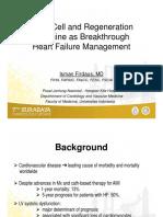 Stem Cell and Regeneration Medicine as Breakthrough Heart Failure Managemen