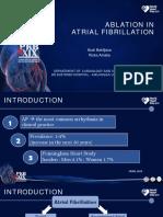 Ablation in Atrial Fibrillation