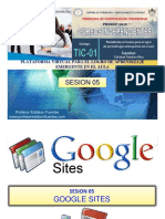 Sesion 05 Tic-01 2018 Google Sites