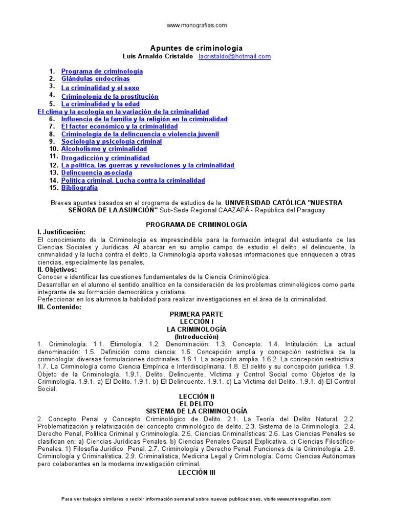 Apuntes Para Criminolog¡A   Criminología   Sistema endocrino