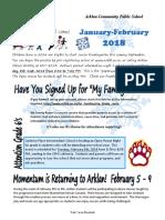 Arklan Newsletter for January and February 2018