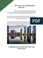 La Arquitectura Sus Corrientes y Estilos