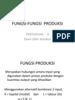 EKO211 - Bab 8 - Fungsi Produksi