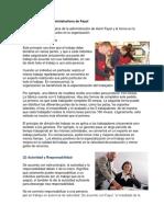 Los 14 Principios Administrativos de Fayol