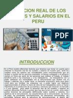 Sueldos y salarios en el Perú 2018