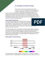 Scientific Principles of Thermal Testing