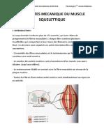 Proprietés Mécaniques Du Muscle Squellitique