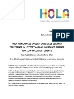 HoLa Lottery 2018 Press Release FINAL