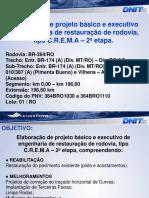 Apresentacao de Projeto de Restuaracao BR-364 - Km 0-00-Km 196-60 - Engefoto