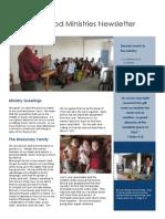 Ministry Newsletter- Spring 2010