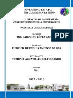 Ejercicio de Endulzamiento de Gas