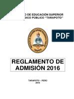 Reglamento de Admision PERU